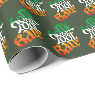 Ireland Home of Football Gift Wrap, GAA Wrapping Paper