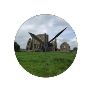 Ireland Hore Abbey Irish Ruins Rock of Cashel Wall Clock