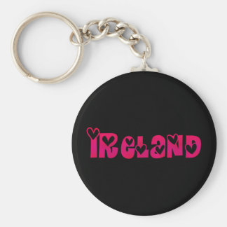 Ireland in Hearts Key Ring