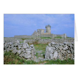 Ireland, Inishmore, Aran Island, Dun Aengus Fort Card