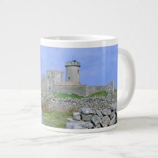 Ireland, Inishmore, Aran Island, Dun Aengus Fort Large Coffee Mug
