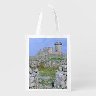 Ireland, Inishmore, Aran Island, Dun Aengus Fort Reusable Grocery Bag