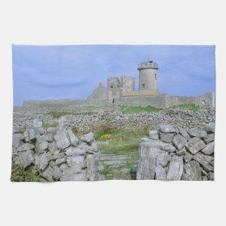 Ireland, Inishmore, Aran Island, Dun Aengus Fort Tea Towel