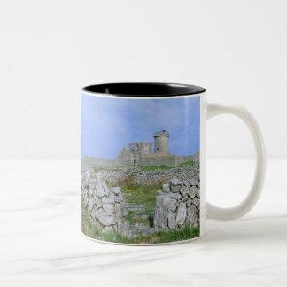 Ireland, Inishmore, Aran Island, Dun Aengus Fort Two-Tone Mug