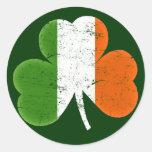 Ireland Irish Flag Classic Shamrock Round Sticker