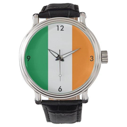 Ireland Irish Flag Green White Orange Watch