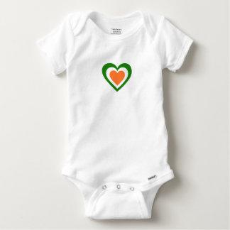 Ireland/Irish flag-inspired Hearts Baby Onesie