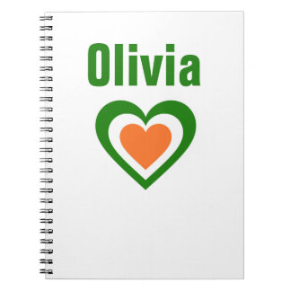 Ireland/Irish flag-inspired Personnalised Spiral Notebook