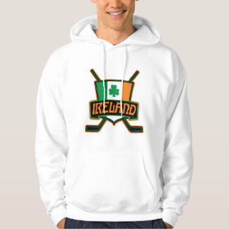 Ireland Irish Ice Hockey Logo Hoodie