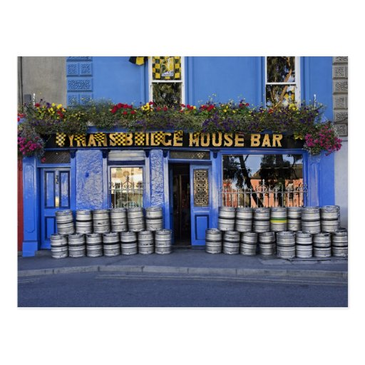 Ireland, Kilkenny. Exterior of pub with beer Post Card