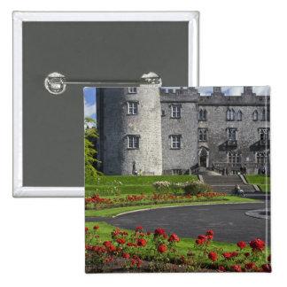 Ireland, Kilkenny. View of Kilkenny Castle. 15 Cm Square Badge