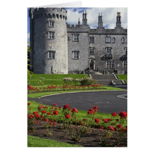 Ireland, Kilkenny. View of Kilkenny Castle. Card