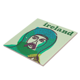 Ireland knight vintage travel poster print tile