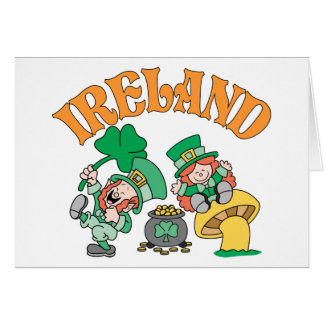 Ireland Leprechauns Card