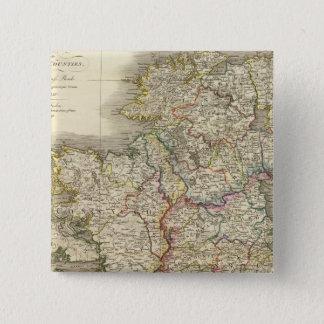 Ireland map 15 cm square badge