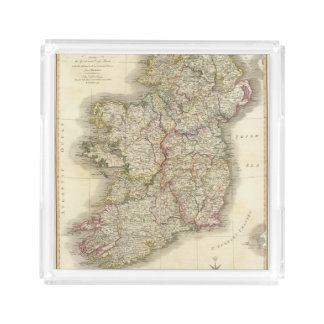 Ireland map acrylic tray