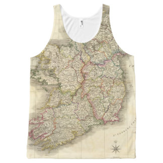 Ireland map All-Over print tank top