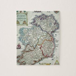 Ireland Map - Irish Eire Erin Historic Map Jigsaw Puzzle
