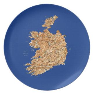 Ireland Map Plate