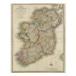 Ireland map print