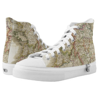 Ireland map printed shoes