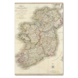 Ireland map tissue paper