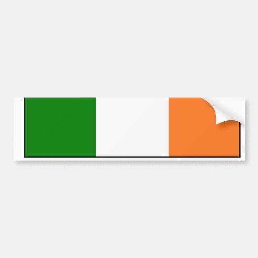 Ireland Name Flag Bumper Sticker