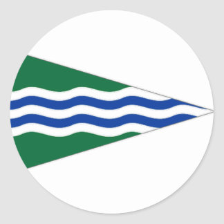 Ireland National Yacht Club Ensign Classic Round Sticker