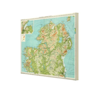 Ireland northern section stretched canvas prints