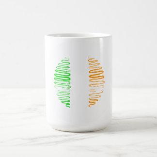 Ireland on White Circle Mug