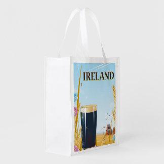 Ireland pint landscape travel poster