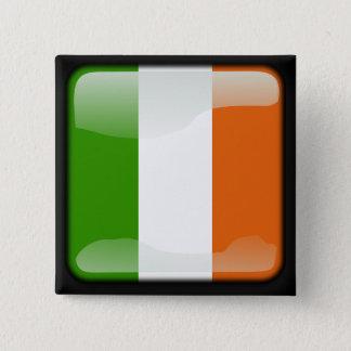 Ireland polished flag 15 cm square badge