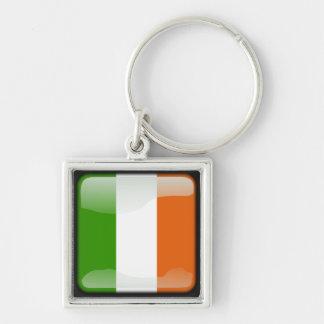 Ireland polished flag key ring