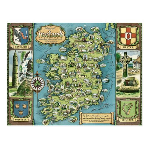 Ireland postcard postcards