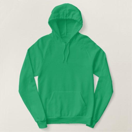 Ireland Pullover Fleece Hoodie 2 Kelly Green/White