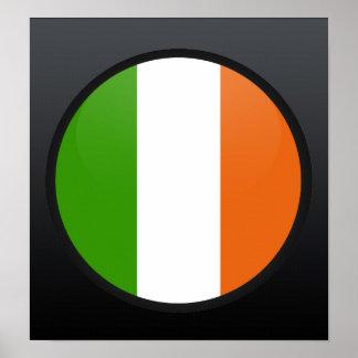 Ireland quality Flag Circle Poster