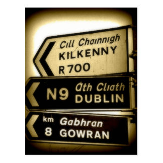 Ireland Roadside Signs Postcard