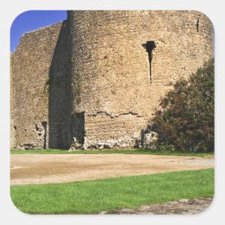 Ireland, Roscommon. View of Roscommon Castle. Stickers