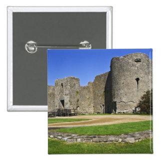 Ireland, Roscommon. View of ruins of Roscommon 15 Cm Square Badge
