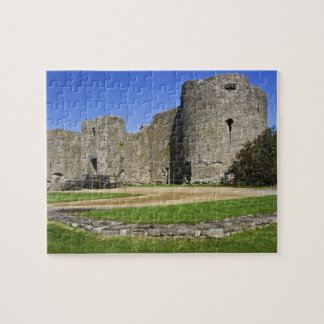 Ireland, Roscommon. View of ruins of Roscommon Jigsaw Puzzle