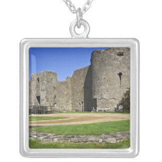 Ireland, Roscommon. View of ruins of Roscommon Silver Plated Necklace