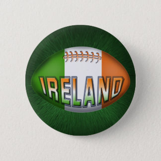 Ireland Rugby Ball 6 Cm Round Badge