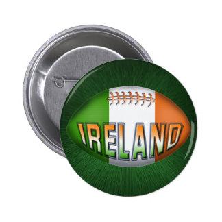 Ireland Rugby Ball 6 Cm Round Badge
