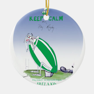 ireland rugby put the boot in, tony fernandes round ceramic decoration