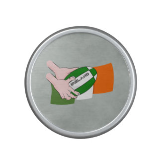 Ireland Rugby Team Supporters Flag With Ball Bluetooth Speaker