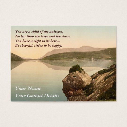 Ireland Sea Coast Motivational Desiderata Business Card