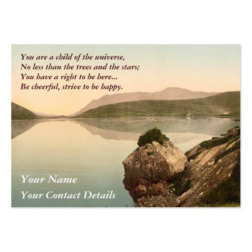 Ireland Sea Coast Motivational Desiderata Pack Of Chubby Business Cards