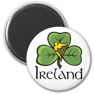 Ireland Shamrock and Harp Magnet