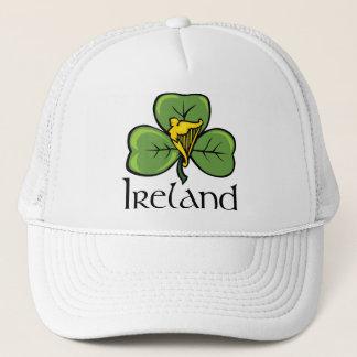Ireland Shamrock and Harp Trucker Hat