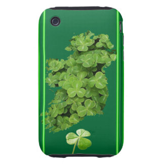 Ireland Shamrock Stripes Tough iPhone 3 Covers